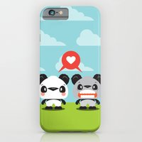 iPhone & iPod Case featuring Panda Love by Steph Dillon