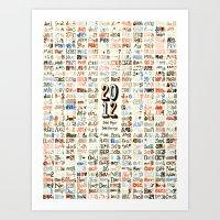 2012 Calendar // 366 Days // 366 Drawings Art Print