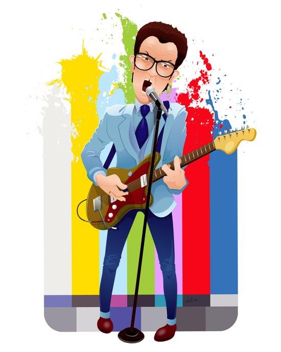 Elvis (Costello) Lives! Art Print
