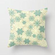 Snowflakes #2 Throw Pillow