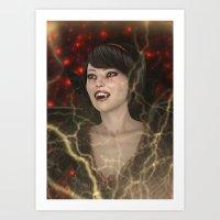 Lady Vamp Art Print