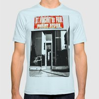 Vinnie was here Mens Fitted Tee Light Blue SMALL