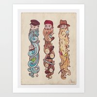Working Man's Beard Art Print