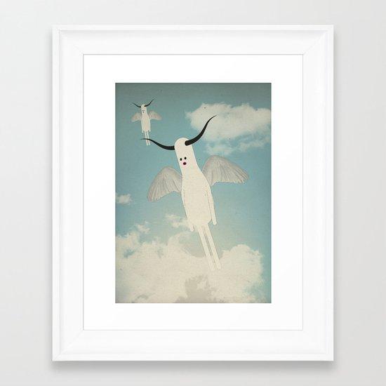 b u l b o s + w i n g s Framed Art Print