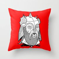 Warrior's Decapitated Head Throw Pillow
