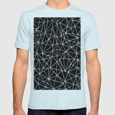 About Black SMALL Mens Fitted Tee Light Blue