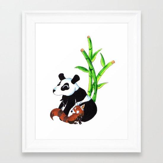 Panda Duo Framed Art Print