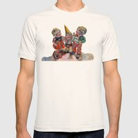 Party Time Mens Fitted Tee Natural SMALL
