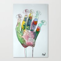 Hand-Eye Canvas Print