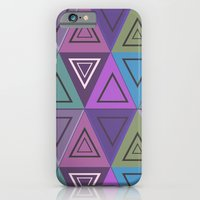 iPhone Cases featuring Triangles by gretzky
