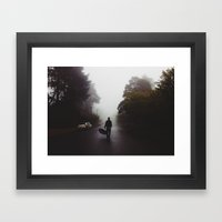 Fog in the Blue Mountains Framed Art Print