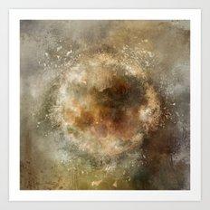 Moon Implosion Art Print