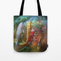 A swirl of Koi Tote Bag