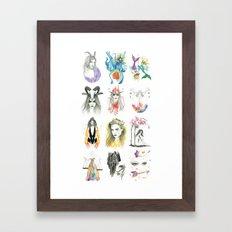 Zodiac collection Framed Art Print