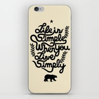 Life is simple iPhone & iPod Skin