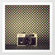 Retro & Pop Camera Art Print