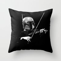 Dark Violinist Fett Throw Pillow