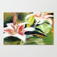 Rectory Series: Lilies Canvas Print