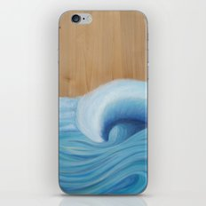Wooden Wave Scape iPhone & iPod Skin