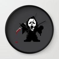 Scream Pixels Wall Clock