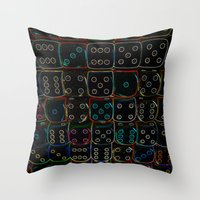 Diced 3D Throw Pillow