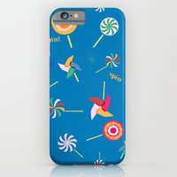 iPhone & iPod Case featuring Spin! Pinwheel Spin! by mrs eliot books