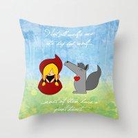 Little Red Riding Hood &… Throw Pillow