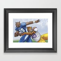 Wildcats Versus Tigers Framed Art Print
