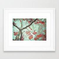 Framed Art Print featuring LEAVES by SUNLIGHT STUDIOS  Monika Strigel