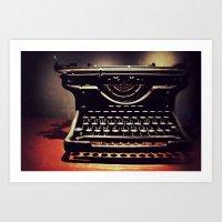 Typer's Drream Art Print