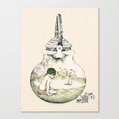 Kettle - print Canvas Print