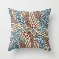 Waves Of Tradition-olive Throw Pillow