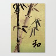 Canvas Print featuring Bamboo Harmony by Spadecaller