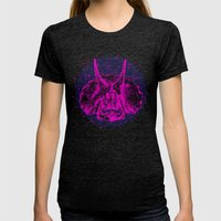 Dinostars (LOST TIME) Womens Fitted Tee Tri-Black SMALL