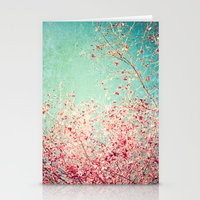 Blue Autumn, Pink Leafs … Stationery Cards