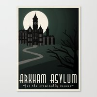 Arkham Asylum for the Criminally Insane Canvas Print