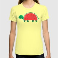 Slow Day Womens Fitted Tee Lemon SMALL