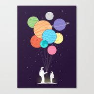 You Are My Universe (fat… Canvas Print