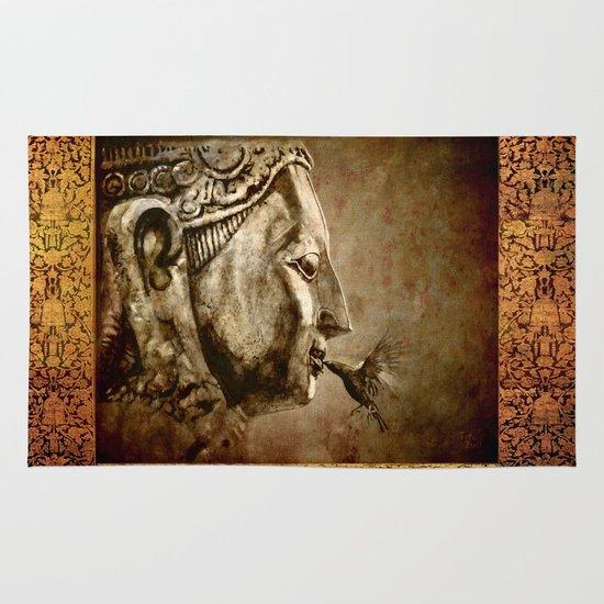 Buddha Kiss - vintage Area & Throw Rug