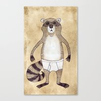 Animals In Underpants - … Canvas Print