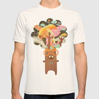 Rigoberto Mens Fitted Tee Natural SMALL