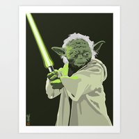 Yoda of Star Wars Art Print