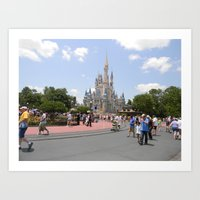 Disney Land. Art Print