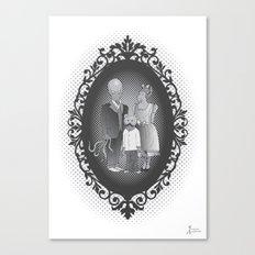 Framed family portrait Canvas Print