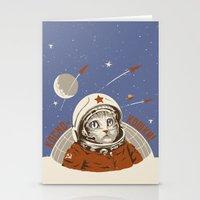 Soviet Space Cat Stationery Cards