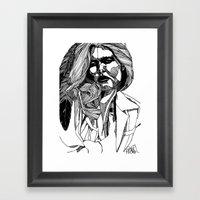 B&W Fashion Illustration… Framed Art Print
