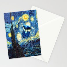 Soaring Tardis doctor who starry night iPhone 4 4s 5 5c 6, pillow case, mugs and tshirt Stationery Cards