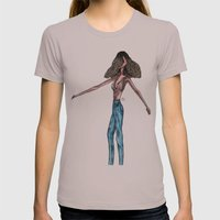 Jasmine Blue Womens Fitted Tee Cinder SMALL