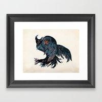 falling bird Framed Art Print