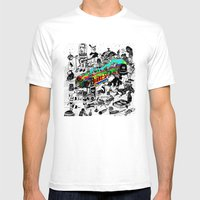 GLOBAL A GO-GO Mens Fitted Tee White SMALL